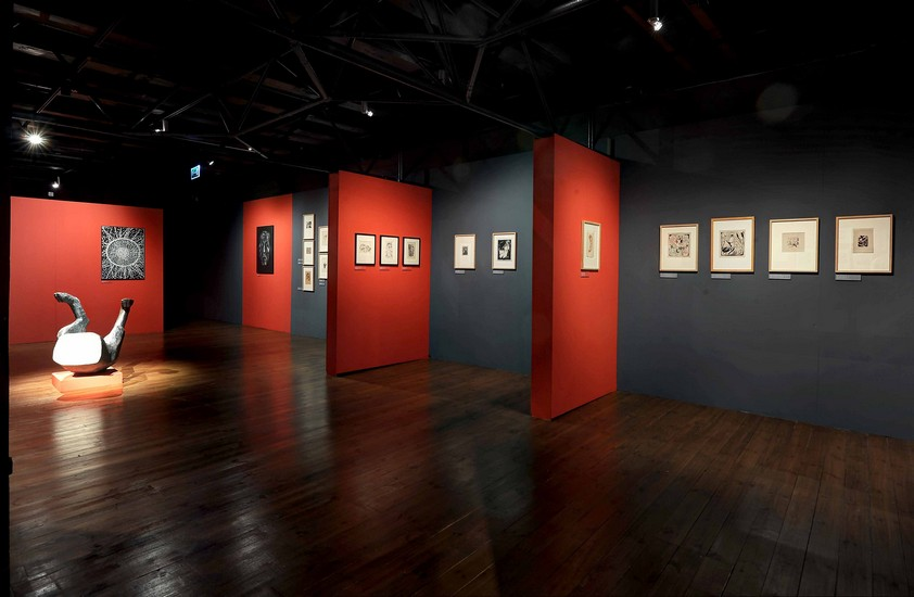 The interior of the gallery changed due to the new exhibition.